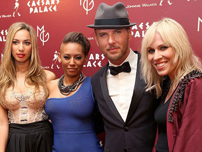 Matt with Leona Lewis, Mel B, and Natasha Bedingfield