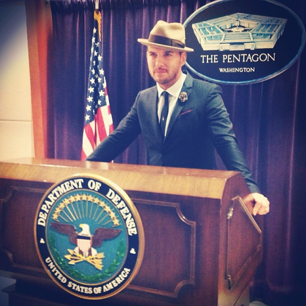 Matt at the Pentagon