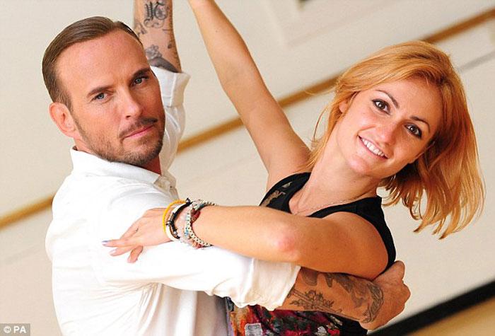 Matt and Aliona Vilani rehearsing at Pineapple Dance studio in London.