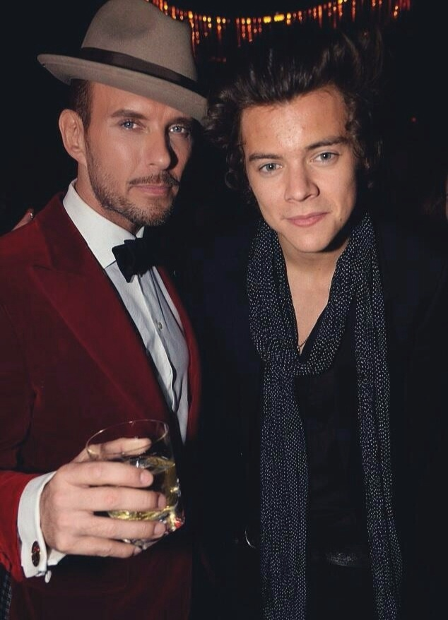 Matt with Harry Styles from One Direction.